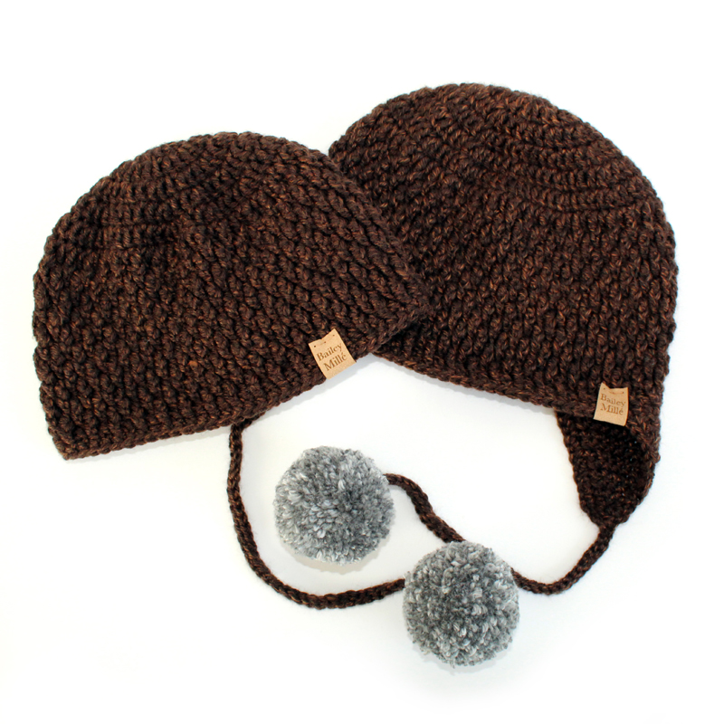 Neo Beanie & Hat Set Crochet Pattern