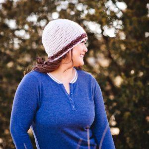 crochet-pattern-banded-arrow-beanie